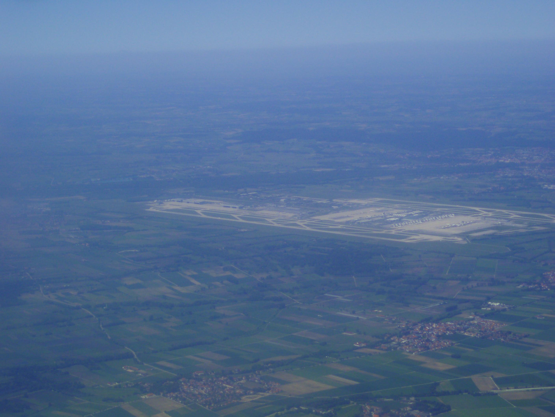 Flughafen München aus der Luft