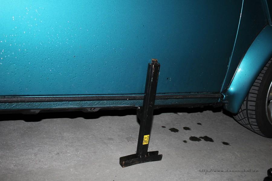 Rover Mini Xn - Mini Wagenheber verdächtig nahe am Blech