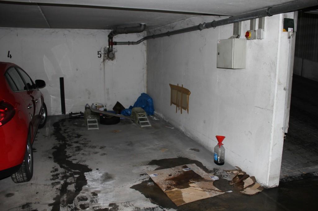So sieht mein Garagenplatz nach dem Tausch aus.