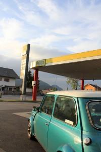 Rover Mini Xn in Reutte- Tankstelle 1