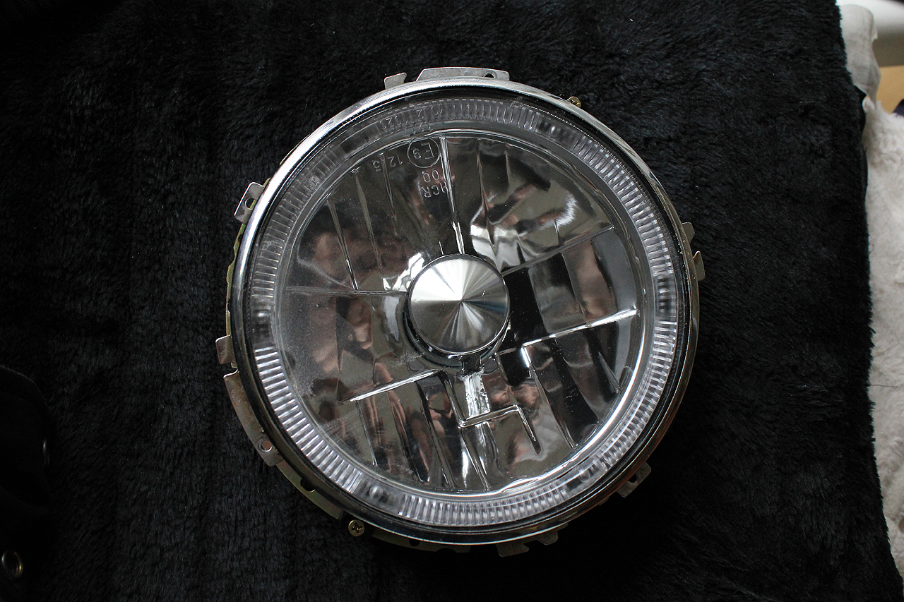 Golf 1 Klarglasscheinwerfer mit Rover Mini Chromring