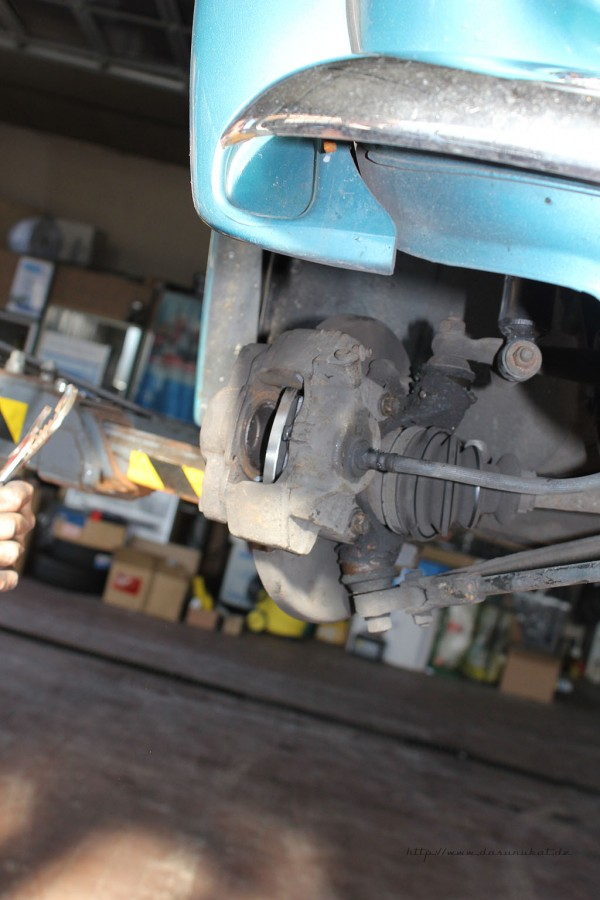 Rover Mini Xn - Bremssattel montiert