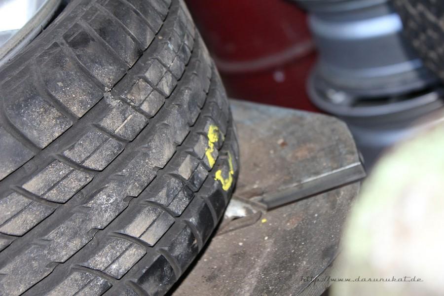 Rover Mini Xn - Fremdkörper im Reifen Behandlung2
