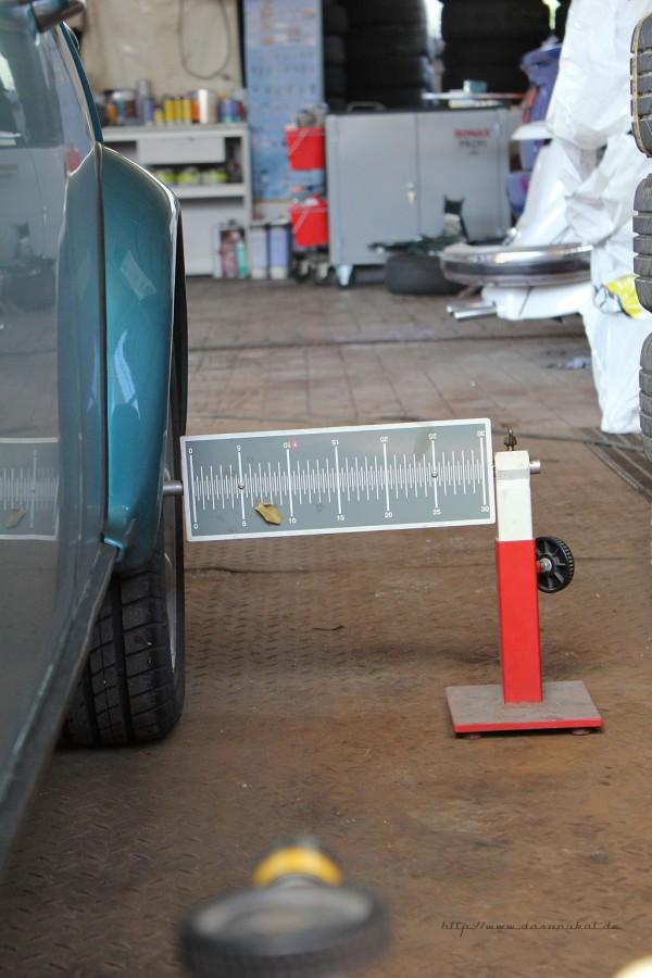 Rover Mini xn - Spur einstellen