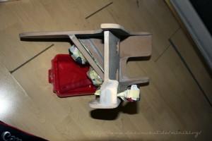 Rover Mini Mittelkonsole von oben mit Lautsprechern