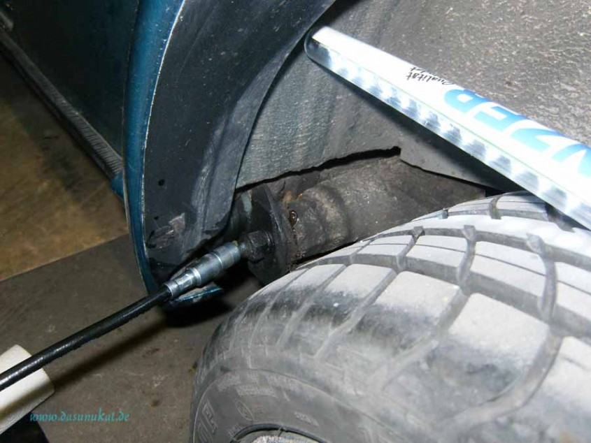 Rover Mini Xn - hinten Abschmieren