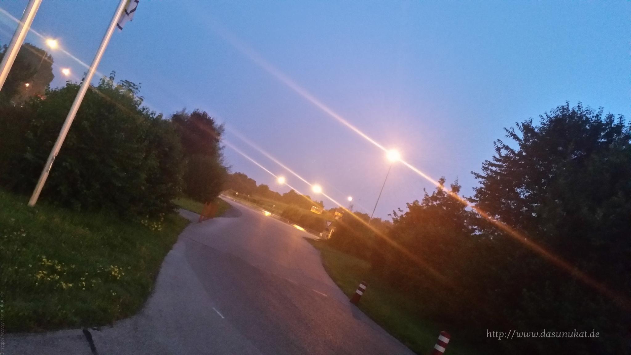 Fahrsicherheitstraining das Gelände Abends