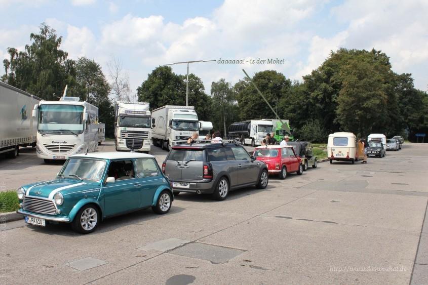 1. Checkpoint auf dem Weg nach GB in Pforzheim